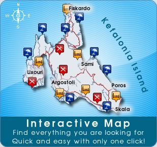 Interactive map of Kefalonia Island
